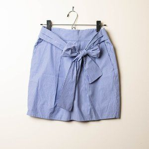 J Crew Blue Striped Skirt with Bow